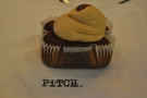 I also had this wonderful gluten-free salted caramel mini-loaf, a gift from Pitch.