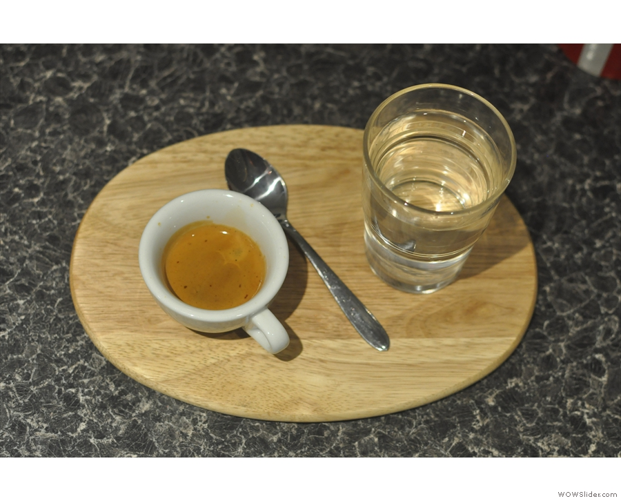 ... and the espresso which won the Best Espresso Award in 2015.