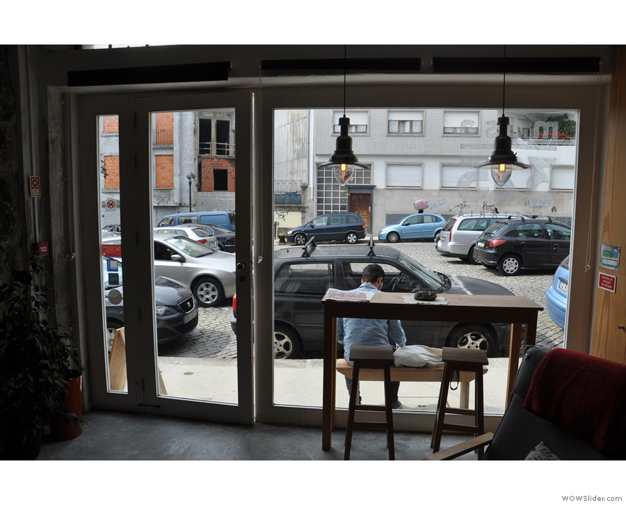 ... although if you fancy people watching, there's always the window-bar or the bench outside.