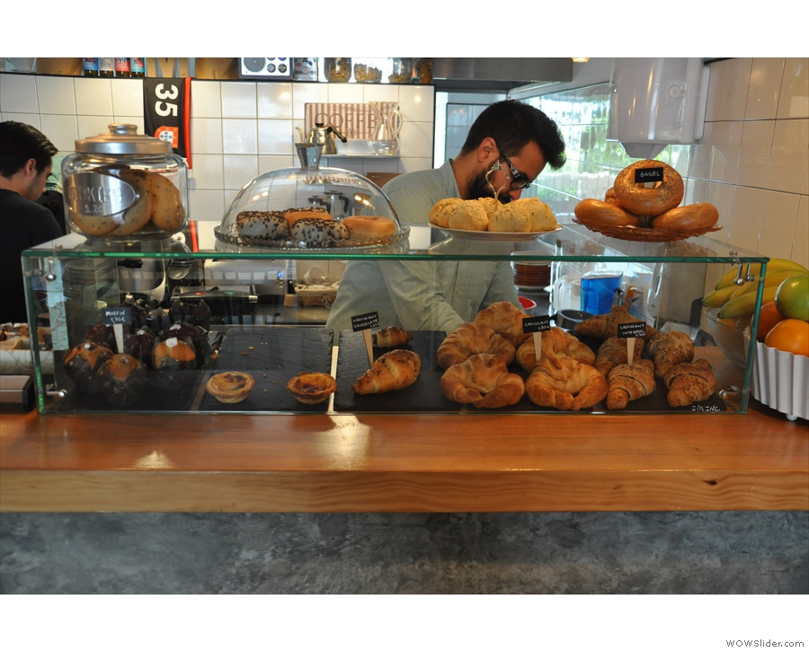 But first, something sweet? There's an interesting array of pastries, some local, some not.