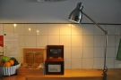 Another varient on the lighting theme is the angle-poise lamp by the counter.