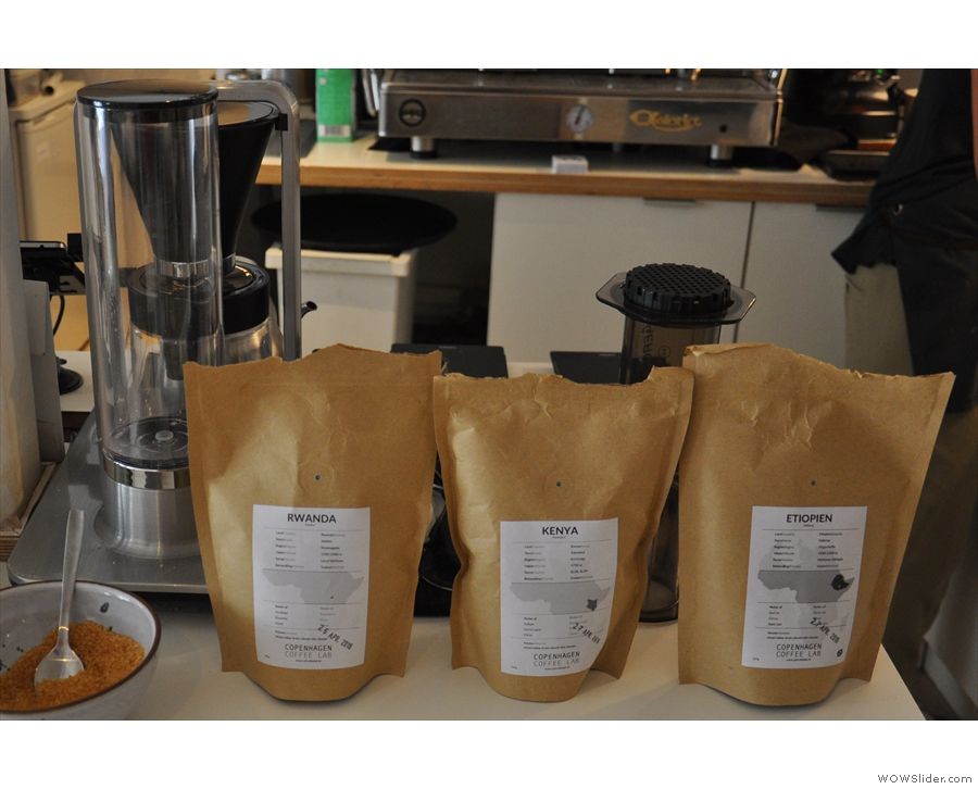 On filter, meanwhile, a choice of three washed African coffees: Rwanda, Kenya & Ethiopia.