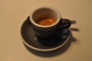 My espresso, a lovely, well-balanced shot of the Brazilian.