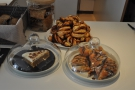 Talking of which, there's a lovely selection of Scandi-inspired pastries.