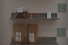 ... while bags of the Copenhagen Coffee Lab's coffee are available for sale by the door.