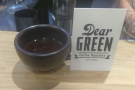 I took my Kaffeeform cup with me to try the coffee. Here's a Kenyan from Dear Green...