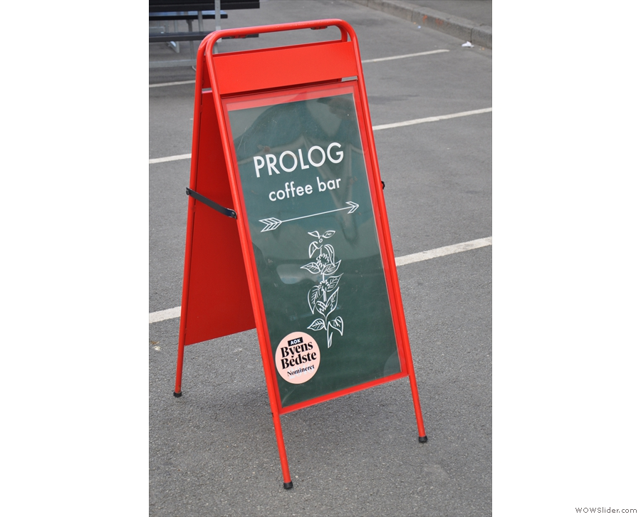 The A-board points the way.