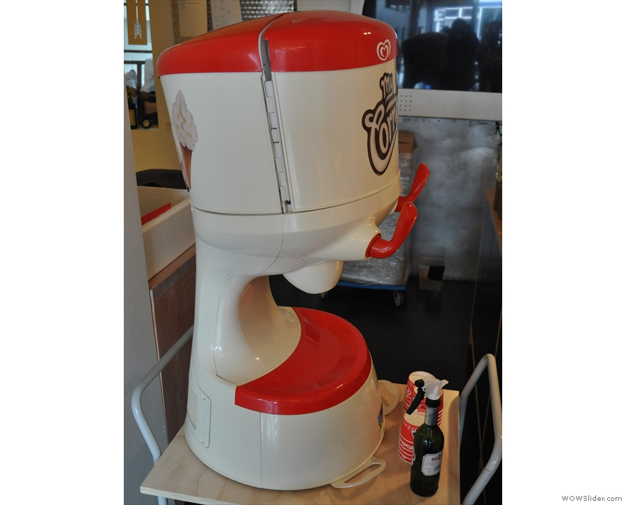 There is also a soft-serve ice-cream machine at the back. More on this later.
