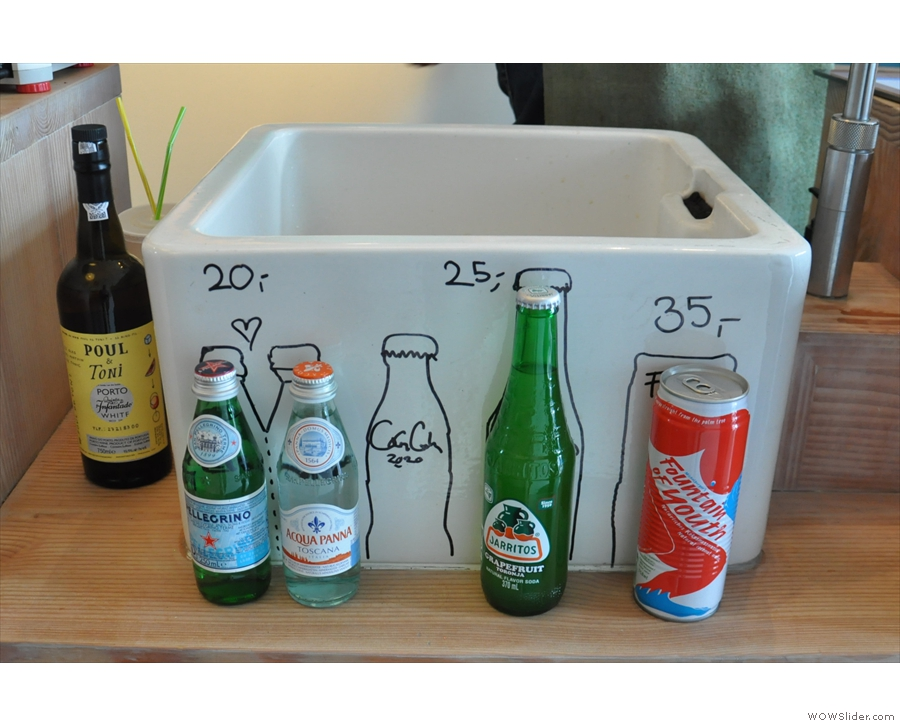 ... and a more standard range of soft drinks.