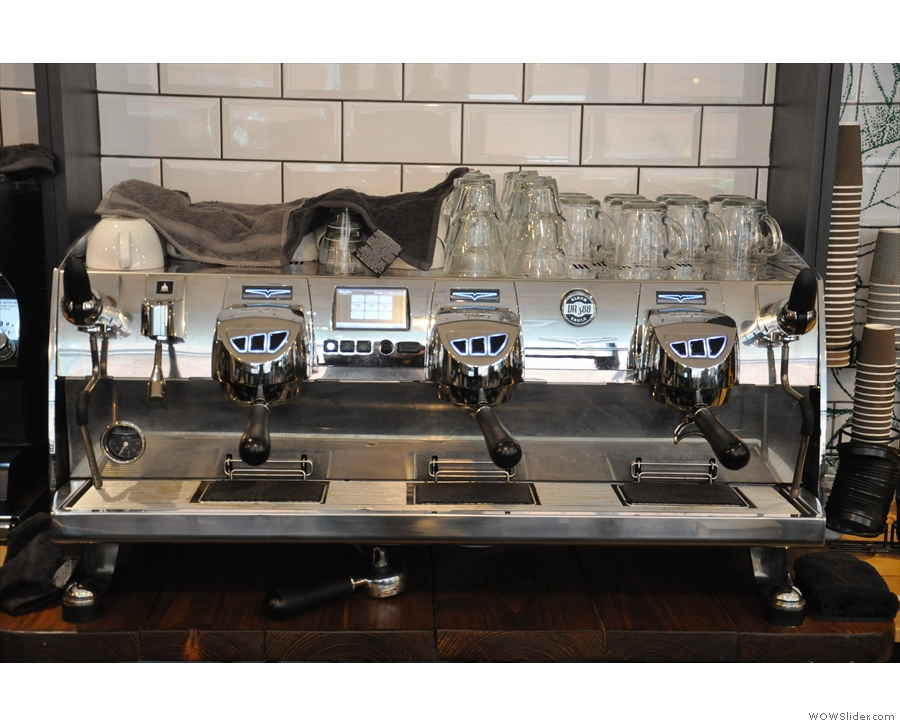 But what to have? Something from the (very shiny) Black Eagle espresso machine?