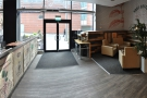 The view back towards the doors from the counter. Look at all that space!