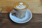 ... and followed it up with a decaf flat white from local boys, Neighbourhood Coffee.
