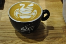 Ladies and gentlemen, may I present Dhan Tamang's latte art swan?