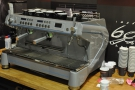 This is the Monte Carlo, the more traditional espresso machine on which it's based.