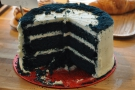 ... while the blue velvet cake is, well, different! And very blue!