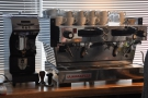 ... which revolves around this La Marzocco Linea MP.