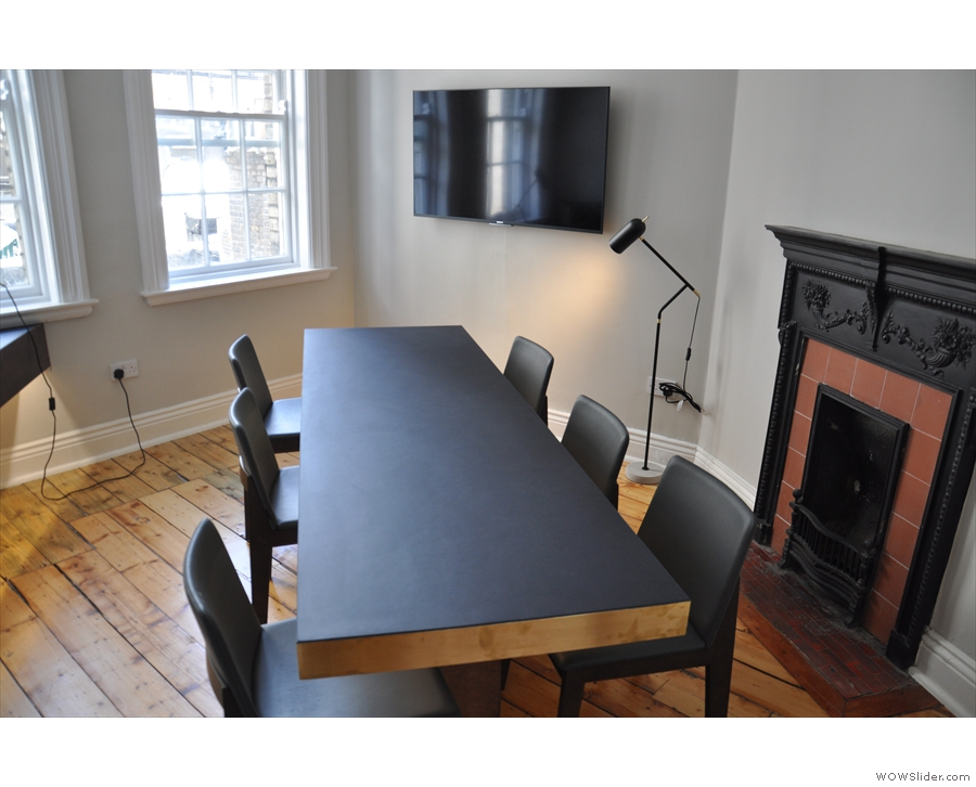 The first floor has the boardroom (hence Coffee Angel HQ) which can be hired for meetings.