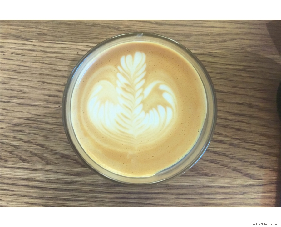 The latte art is worth a second look.