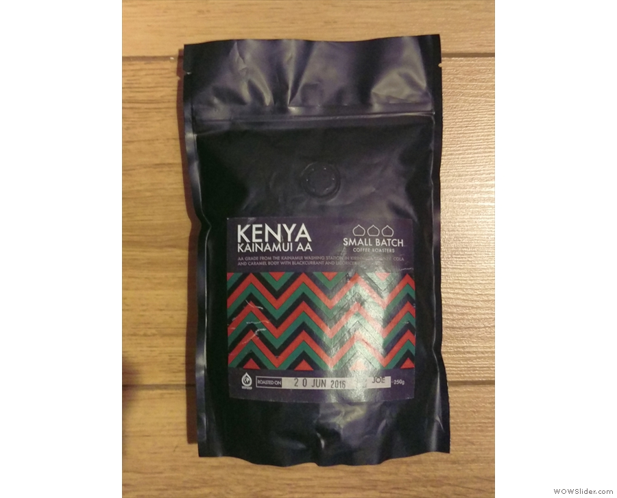 Talking of Kenyan, Small Batch also let me have this bag of its Kenyan Kainamui.