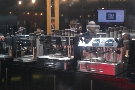 Shiny espresso machines