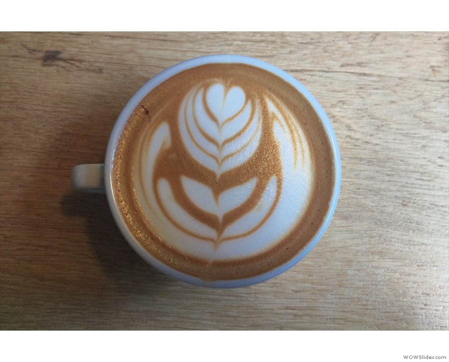 Amazing latte-art, by the way...