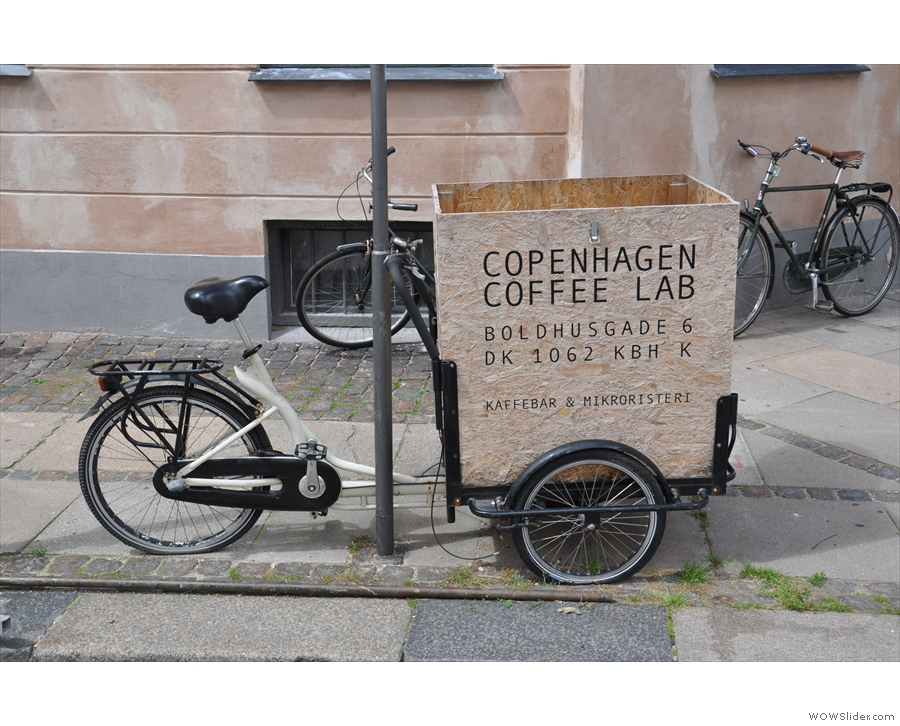 Copenhagen Coffee Lab is not the easiest place to find, so this was a reassuring sight...