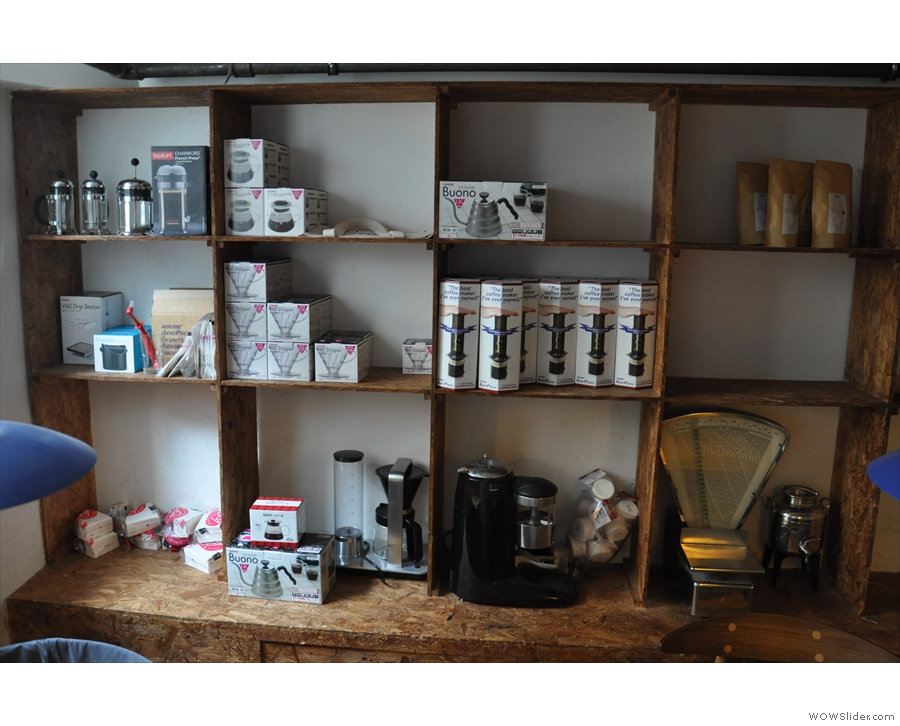 You can also buy all manner of coffee-related kit to make it with!