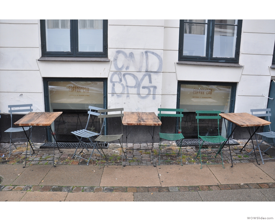 There's plenty of outside seating, if only you can dodge the showers.