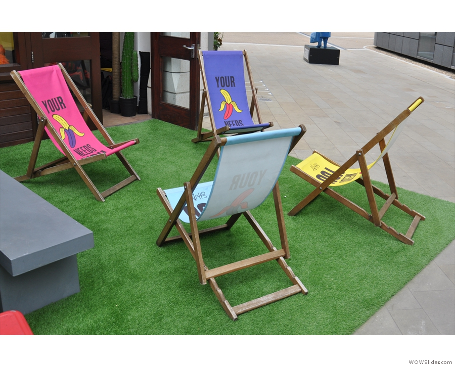 ... which have relegated the trademark banana deckchairs to the bit at the end.
