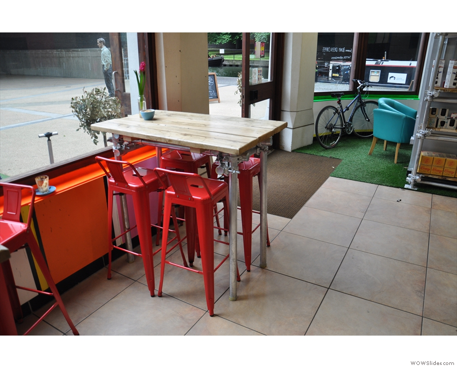 ... have replaced these high tables and stools (as seen in 2014).