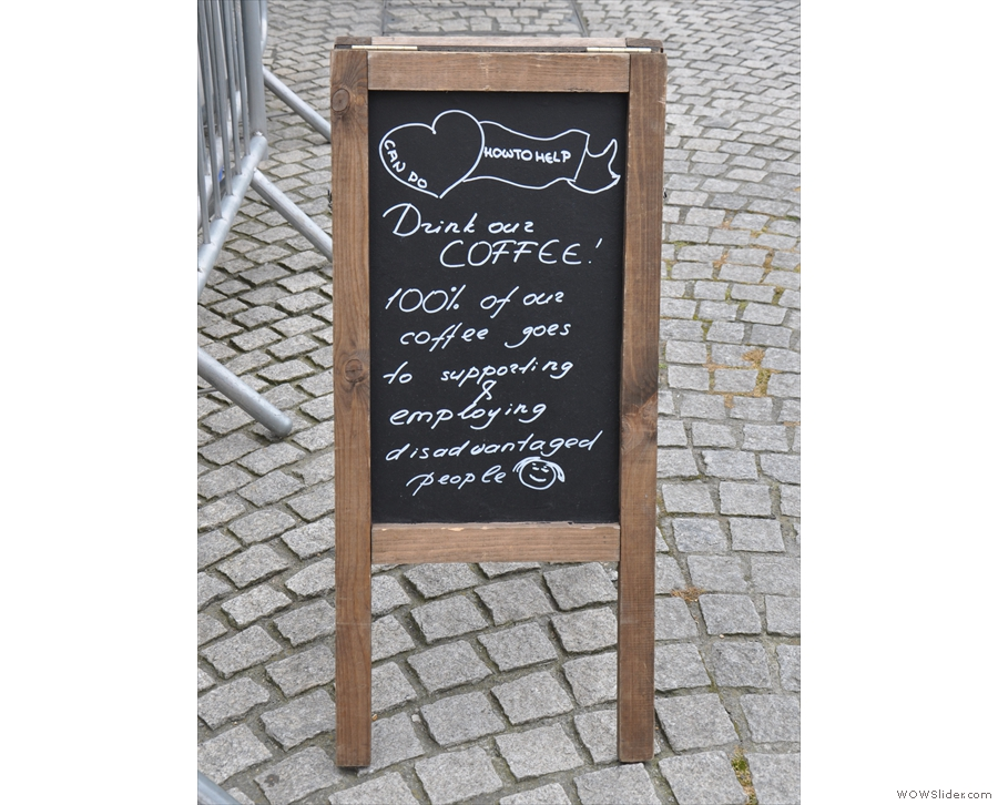 ... come to the right place. They're not shy about telling you what Can Do Coffee's all about.