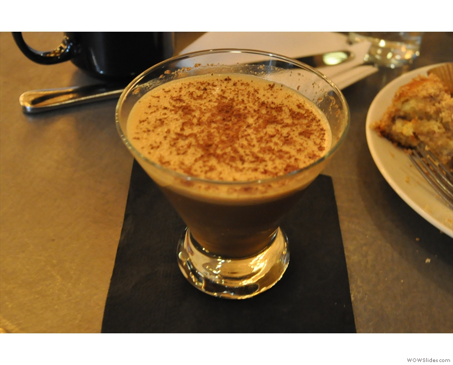 Finally, the staff insisted I try an espresso diablo (a coffee cocktail). How could I refuse?