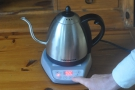 ... showing the temperature that the kettle is to. In this case, it's 92C.