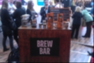 The Matthew Algie brew bar where Lee Hall demonstrated the impact of two different brewing methods on a couple of coffee beans