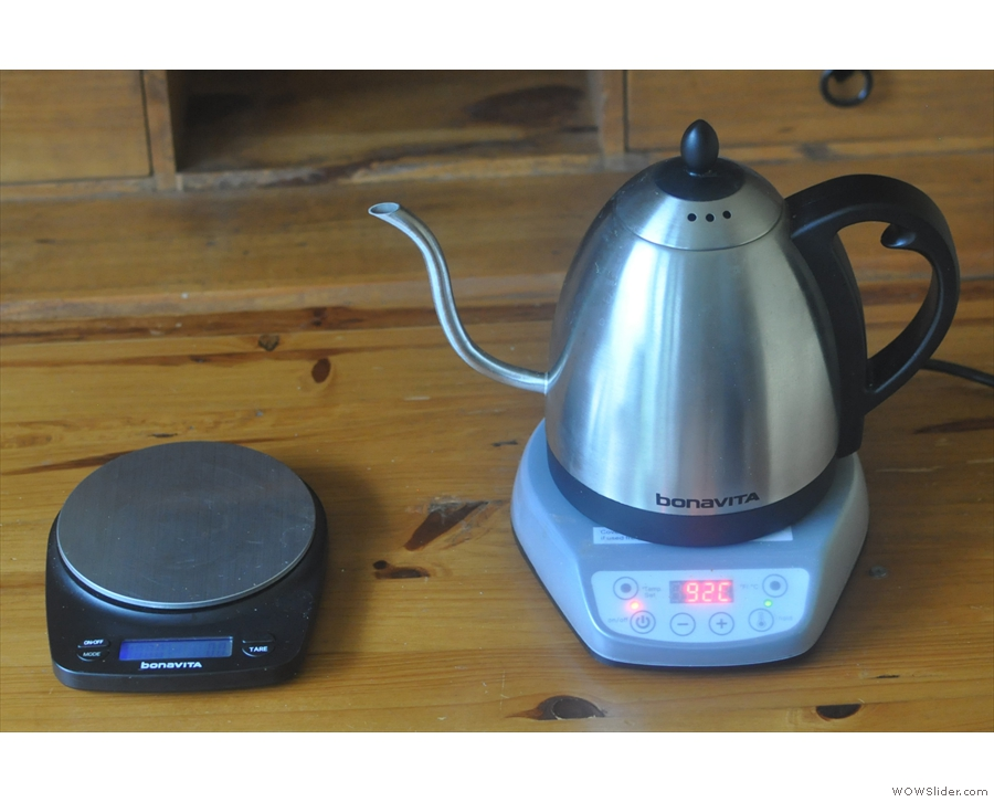 My Bonavita kettle didn't come alone. In the same box was a set of waterproof scales.