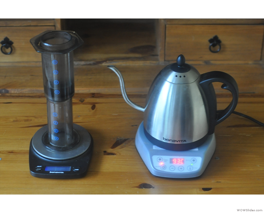 I also use my kettle & scales for my Aeropress (inverted method, of course).