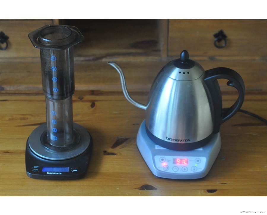 One thing you'll notice is the kettle holds the temperature +/- 1⁰C.