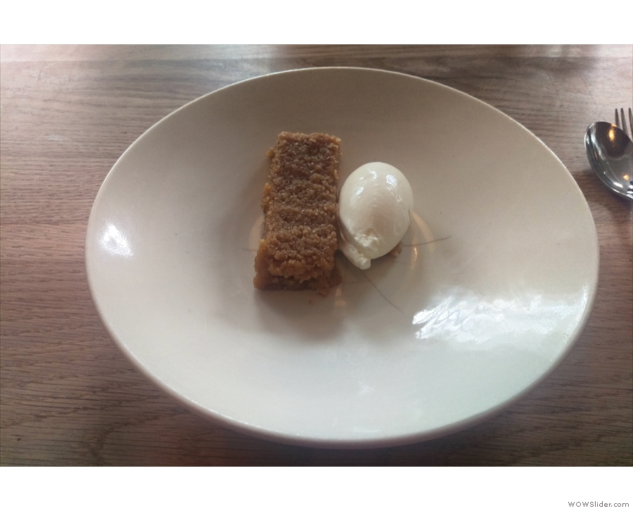 We'd actually come for lunch. I had this amazing treacle tart & raw milk ice cream for pudding.