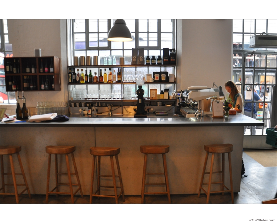 But, as promised, there was also coffee. You can sit at the counter on one of five stools.