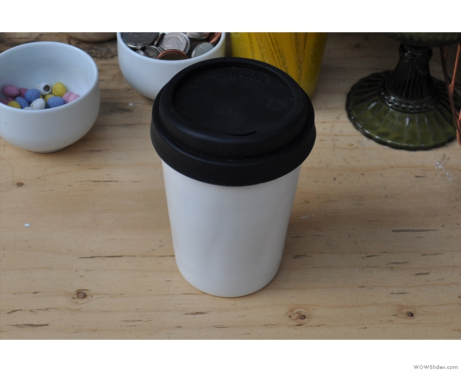 This is mine, a flat white, in my double-walled porcelain Therma Cup.