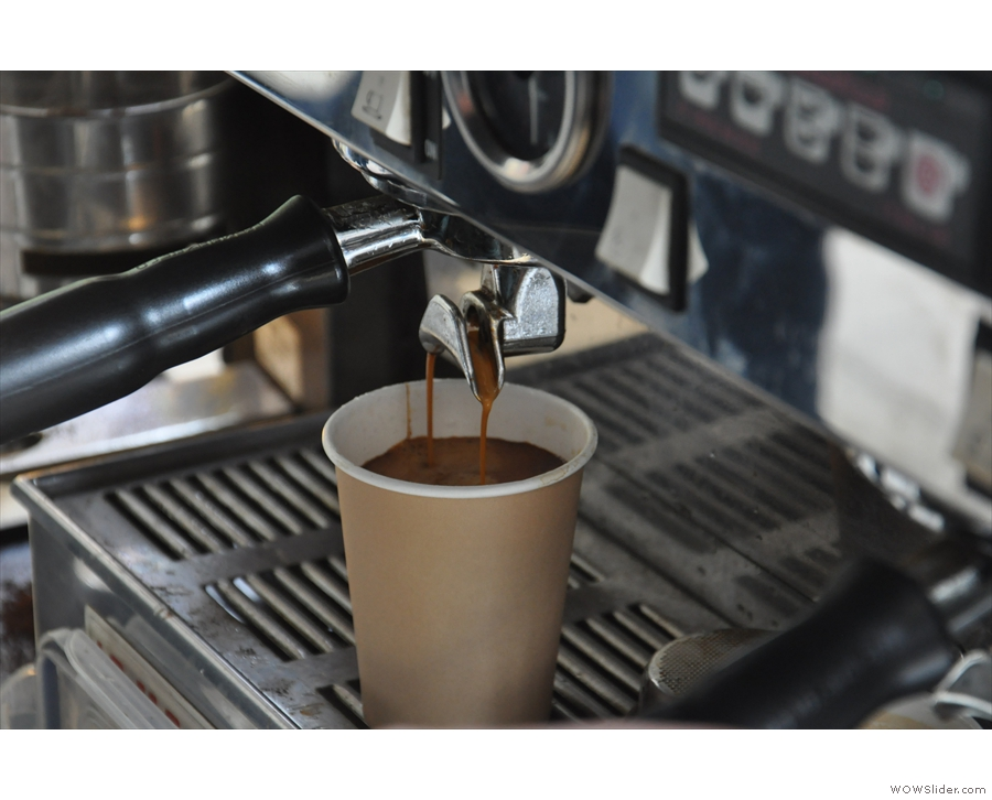 This one isn't mine by the way; it's an Americano for another customer.