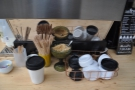 There's not a  lot to see. Here's the takeaway lids, plus my Therma Cup.