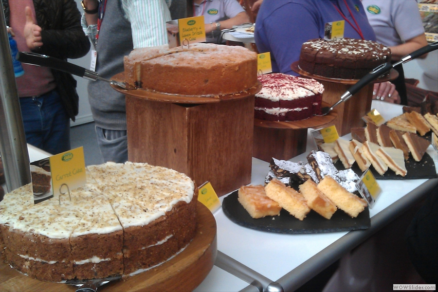 Some of the many cakes on display. These are from the Handmade Cake Company.