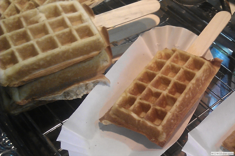 An individual waffle, ready for serving... to me!