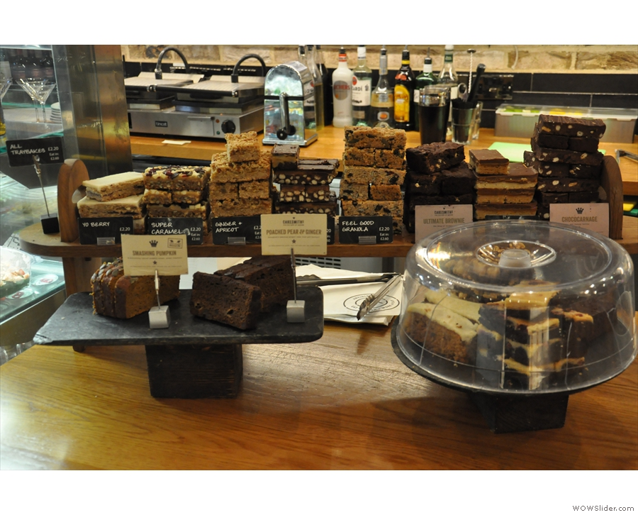 You'll also find the very tempting selection of cakes over here...