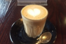 My piccolo, made with the house-blend...