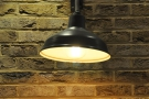 I love the combination of exposed brick and lighting.