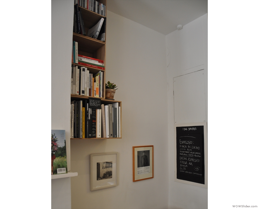 More books, this time in the quiet corner at the back.