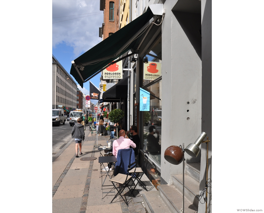 Forloren Espresso, on Kongensgade, not far from tourist central, the Nyhavn Canal.