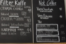 The second part of the menu has the filter and 'not coffee' choices.